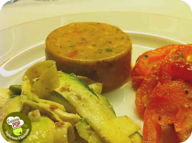 Flans de légumes et tofu à la provençale