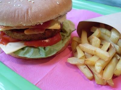 Hamburgers frites vegan