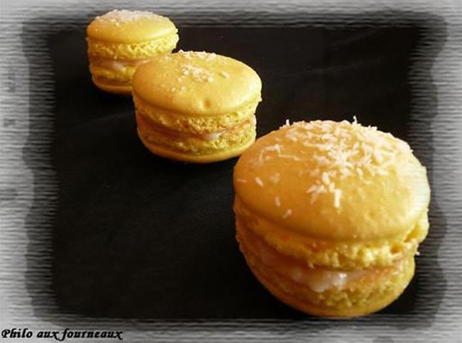 Macarons ganache à la noix de coco
