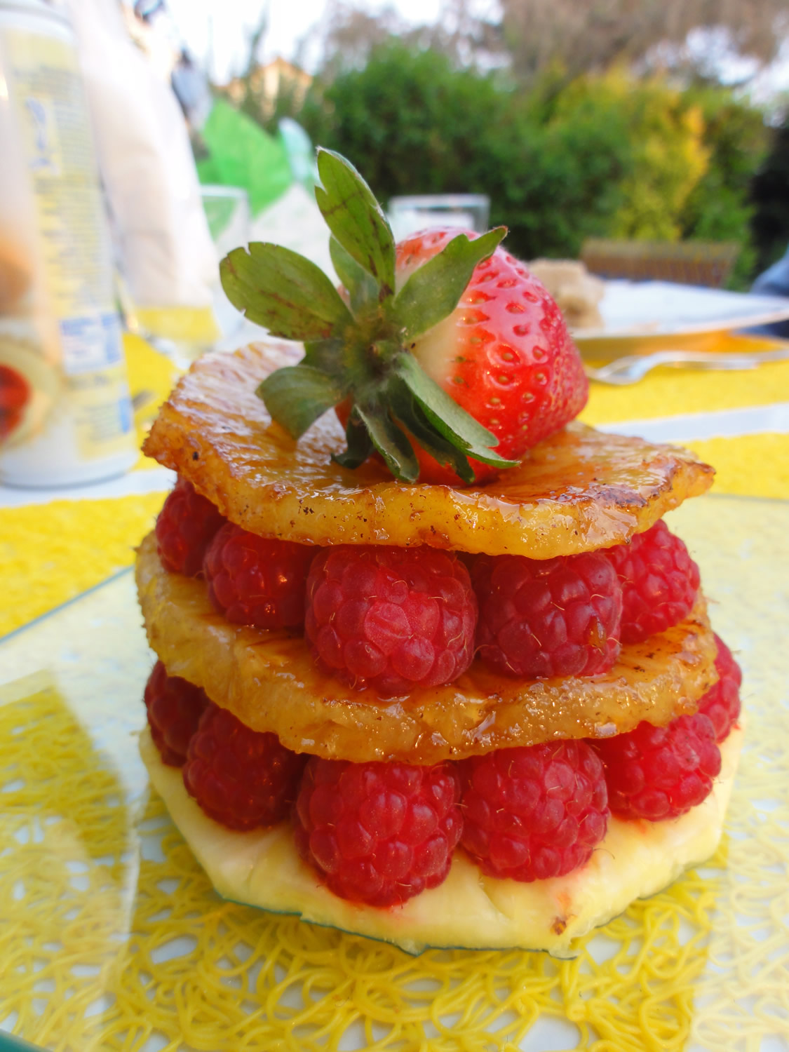 Mille-feuille Ananas Framboises