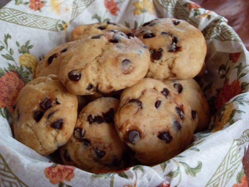 Mini cookies, banane et pâte d'amandes (Vegan)