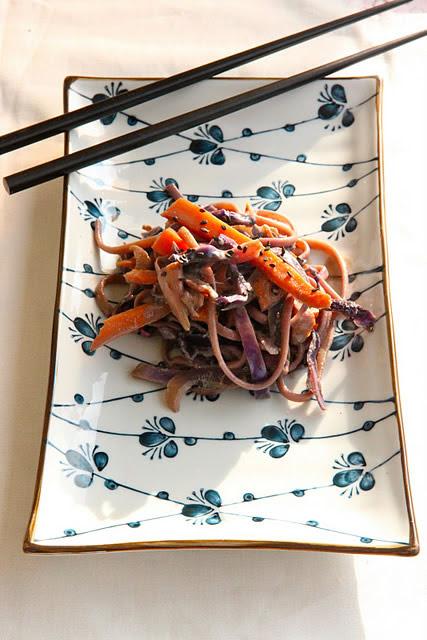 Nouilles udon aux couleurs de l'automne