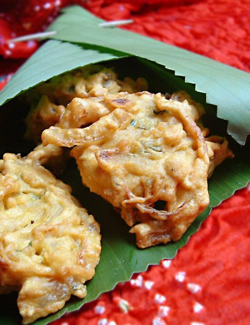 Oignons bhaji Beignets d'oignons indiens