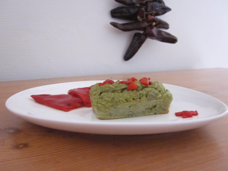 Petit far de brocoli au piment d'espelette