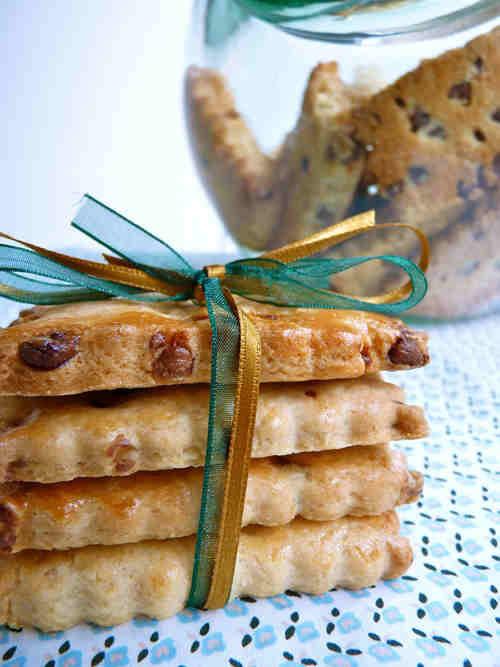 Petite galette au beurre salé et chocolat au lait