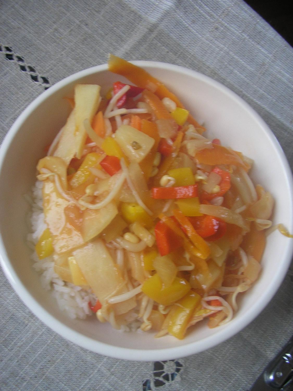 Wok de légumes à l'aigre-douce