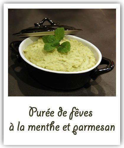 Purée de fèves à la menthe et parmesan