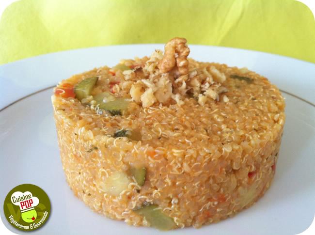 Quinoa aux courgettes et tomates façon Risotto