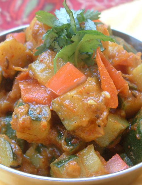 Recette indienne courgettes aux épices