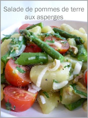 Salade de pommes de tere aux asperges