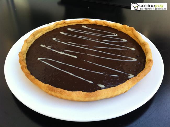 Tarte au chocolat noir sans gluten