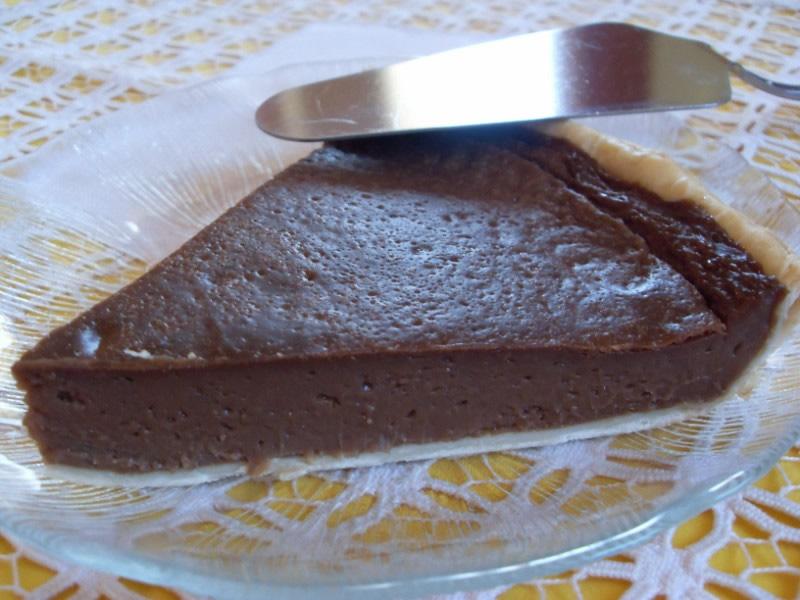 Tarte au flan, chocolat au lait (Vegan)